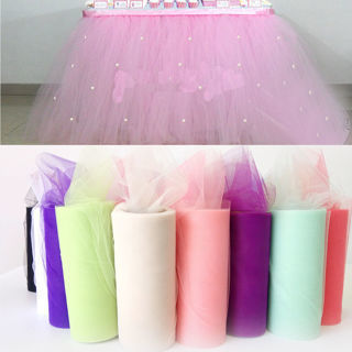 [GIN FOR FREE SHIPPING] 1Roll Gazue Tutu Spool Tulle Wedding Party Bow Decoration