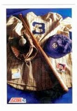 1992 score baseball-babe ruth -tribute card-yankees-hof