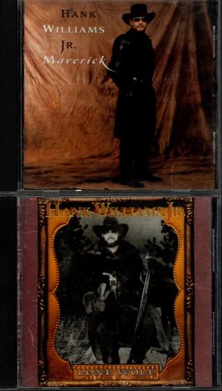 Pair of CDs by Hank Williams, Jr - Maverick / Lone Wolf
