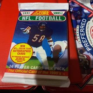 1991 score series two unopened pack of football cards