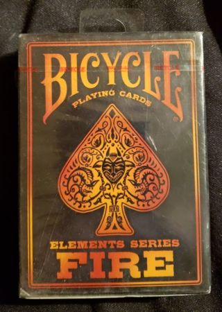 New Bicycle Elements Series FIRE Playing Cards
