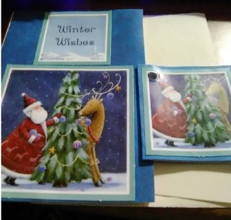 """"""" Winter Wishes """" Blank Design Card with Envelope"""