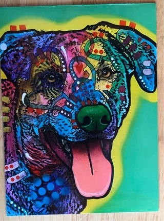"""HAPPY DOG - 4 x 5"""" MAGNET"""