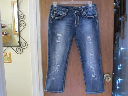 MISS ME Destroyed Capri Jeans Size 31 AWESOME!
