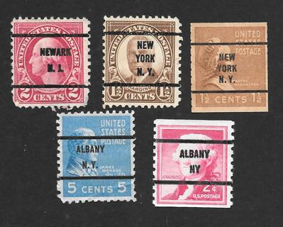 Used mix of Pre-Cancel Stamps # 3