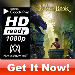 THE JUNGLE BOOK 2016 LIVE ACTION HD GOOGLE PLAY CODE ONLY