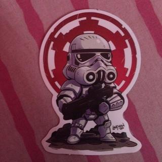 Star Wars Style Storm Trooper Decal Vinyl Sticker ~ NEW!