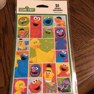 51ct Sesame Street Sticker - 3 Sheets BNIP