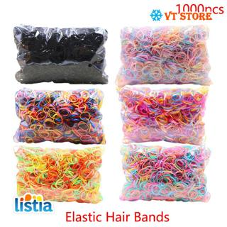 About 1000pcs/pack Rubber Hairband Rope Silicone Ponytail Holder Elastic TPU Hair Holder Tie Gum