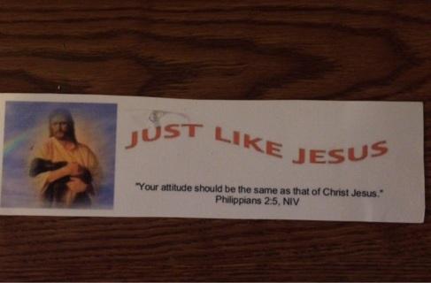 Just Like Jesus bumper sticker