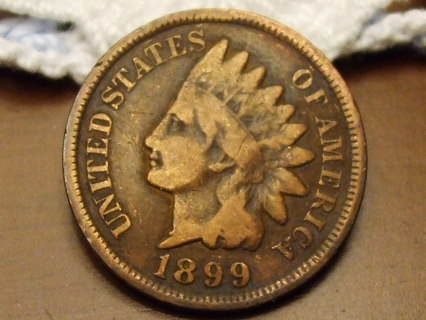 ***WOW RARE*** 1899 INDIAN HEAD CENT,116 YRS OLD, SOLID COIN