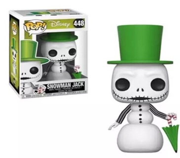 Nightmare before Christmas Funko Pop jack snowman in hand