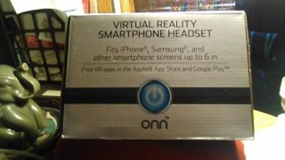 new onn virtual reality smartphone headset