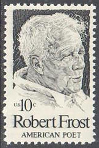 SC#1526 - 10c Robert Frost Single MNH