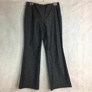 Ann Taylor Loft Women's Julie Dress Pants Metallic Heathered Zip Pocket Stretch 8