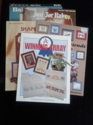 5 Cross Stitch Leaflets