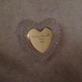 24% lead crystal heart box