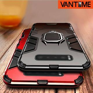 For Samsung Galaxy S10 Plus S10e S9 Hybrid Magnetic Ring Holder Hard Case Cover