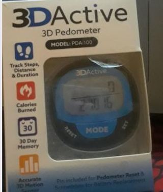 3D Active Pedometer / Step Counter