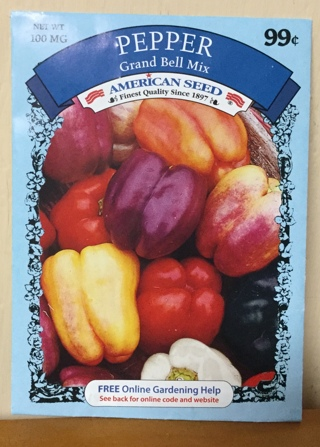 Rainbow of Colors Bell Pepper Seed