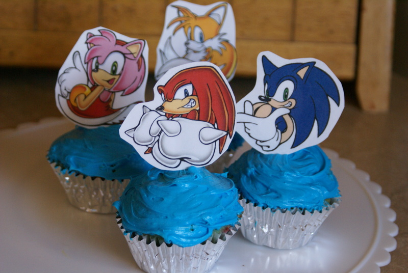 Free Sonic The Hedgehog Printable Cupcake Toppers Other Listia Com Auctions For Free Stuff
