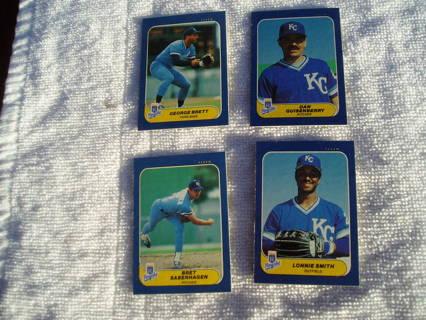 4- 1986 FLEER MINI Baseball Cards