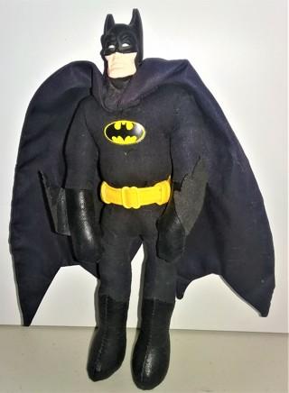 """1989 DC Comics stuffed Batman doll by Applause - 8"""" tall - head is plastic"""