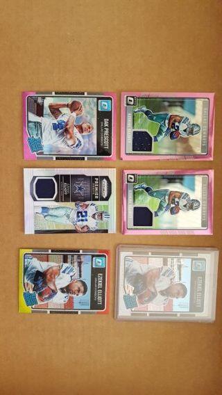 Huge Ezekiel Elliott + Dak Prescott Card Lot! PINK JERSEY + PRIZM JERSEY