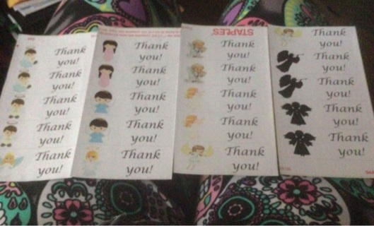 20 BN Angel Thank You Labels