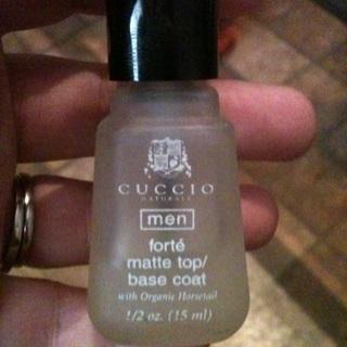 Cuccio Men S Clear Coat Nail Polish Matte