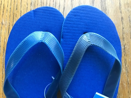 Kids Flip Flops (Navy Blue) Size 10-11 With Tags
