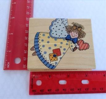 PATCHWORK ANGEL rubber stamp scrapbooking paper crafts card making