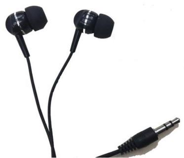 BRAND NEW Headphones 3.5mm Earbuds Audio Listening Device - (Black)