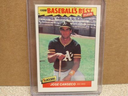 1986 FLEER JOSE CANCECO ROOKIE 86 BASEBALLS BEST # 5of44 OAKLAND A'S