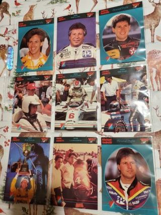 9 Andretti 1992 Racing Cards!
