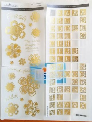 Gold gilded vellum STICKERS ☆ *ShipsFREE in USA*