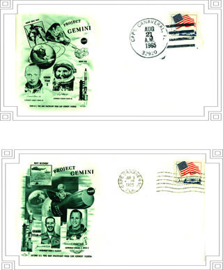 2 FDC (First Day Covers)~Project Gemini~Cape Canaveral Fla.~1965