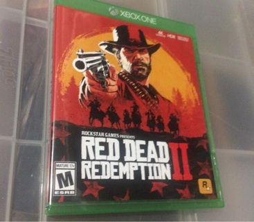 Red Dead Redemption 2 Xbox One 2 disc like new condition 4K hdr enhanced ultra Hd