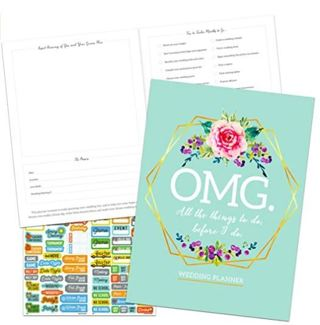 2021 Wedding Planner Weekly/Monthly Planner Calendar with Over 100 Calendar Stickers