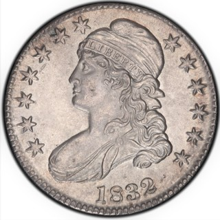 1832 Cap Bust 25 cent 90% pure silver. Solid Silver Coin a Jewelry Bullion Round