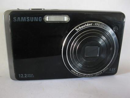 Samsung DualView TL220 12.2MP Digital Camera - Black
