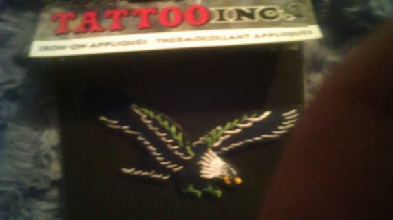 New Wicked cool Eagle iron on patch ,tattoo Inc. Flash ink style