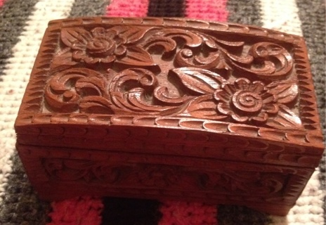 Very lovely wooden jewelry box!