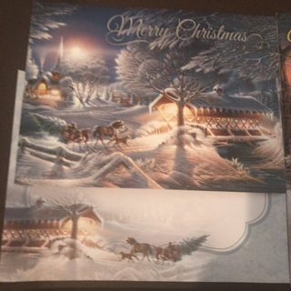 Lot of SIX (6) Xmas Cards w/Matching Envelopes