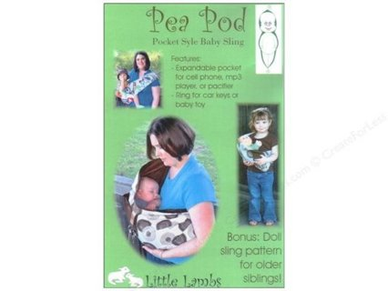 Free Little Lambs Pea Pod Baby Sling Pattern With Bonus Doll Sling