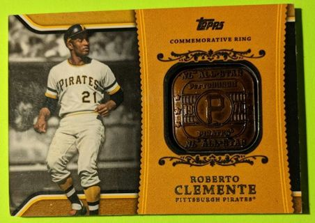 ROBERTO CLEMENTE COMMEMORATIVE EMBEDDED RING CARD