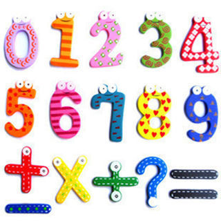 15pcs Number 1-10 & 5 symbol Wooden Alphabet Fridge Magnet Child Educational Toy