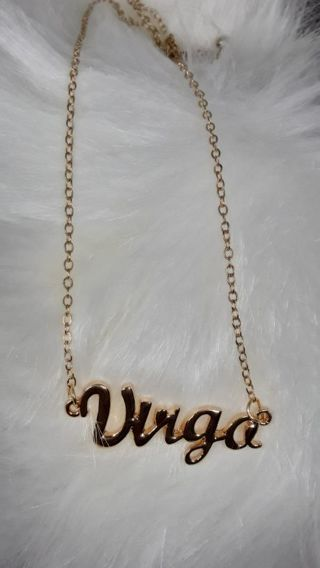 Virgo gold plated zodiac necklace