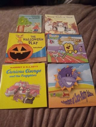 6 New and used Children's Book Lot
