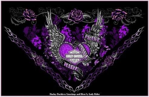 Harley Davidson Purple Rose Wallpaper
